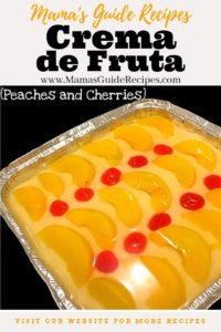 Crema de Fruta (Peaches and Cherries)