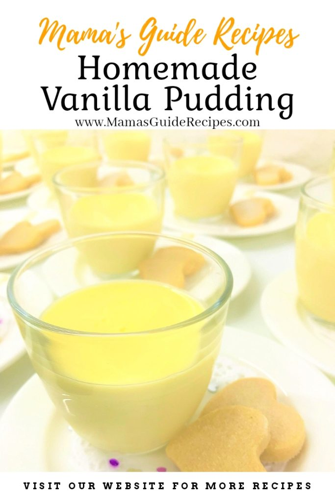 Homemade Vanilla Pudding