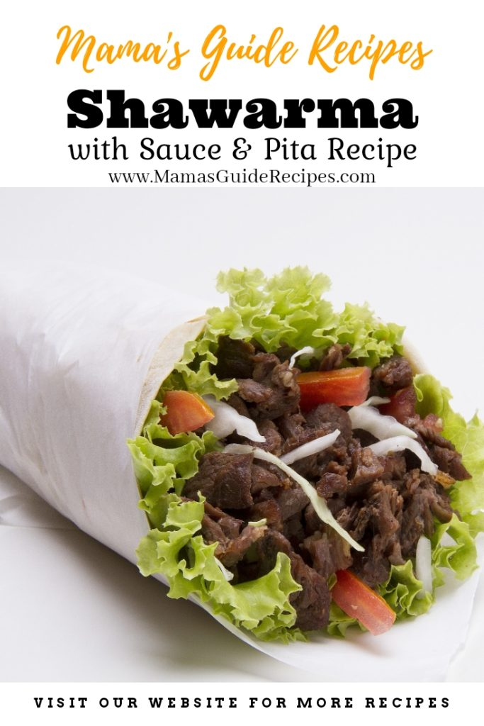 Shawarma with sauce and pita recipe