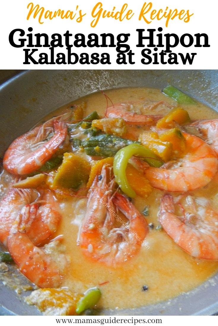 Ginataang Hipon, Kalabasa at Sitaw