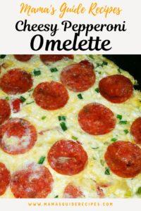 Cheesy Pepperoni Omelette