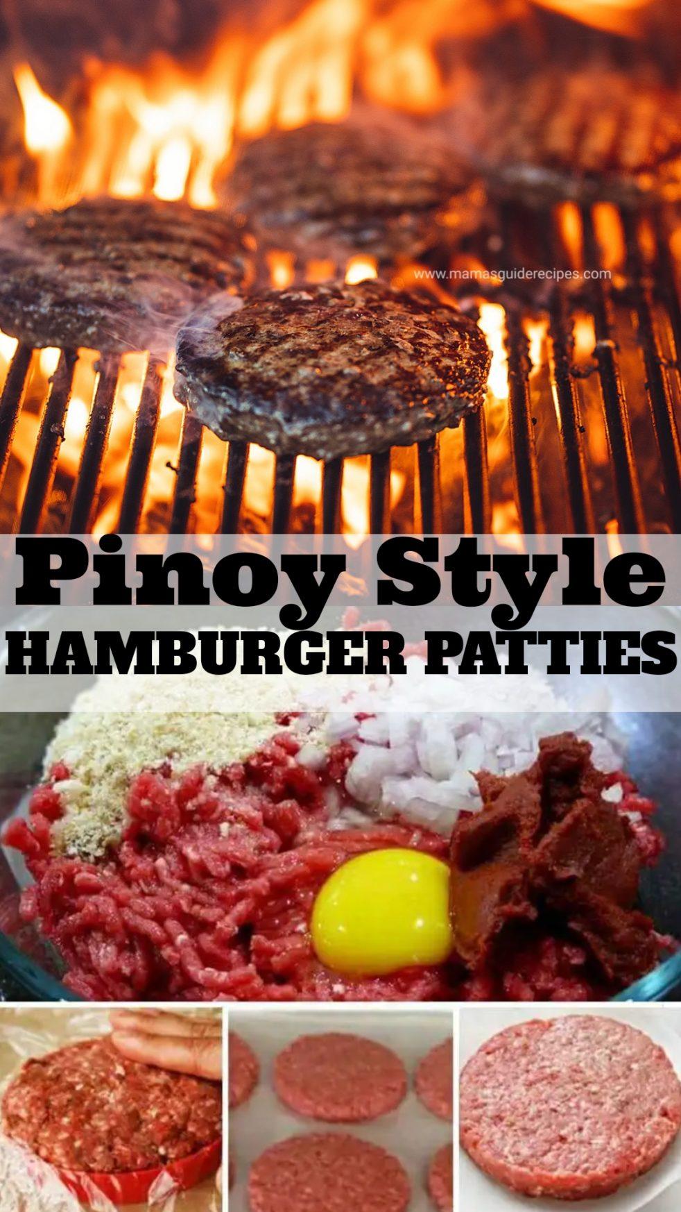 Pinoy Style Hamburger Patties