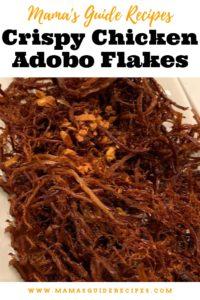 Crispy Chicken Adobo Flakes