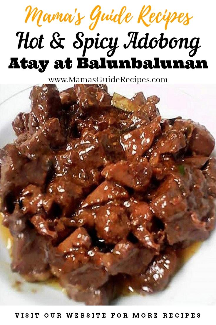 Hot and Spicy Adobong Atay at Balunbalunan