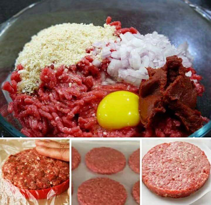 How to make ground beef burger patty