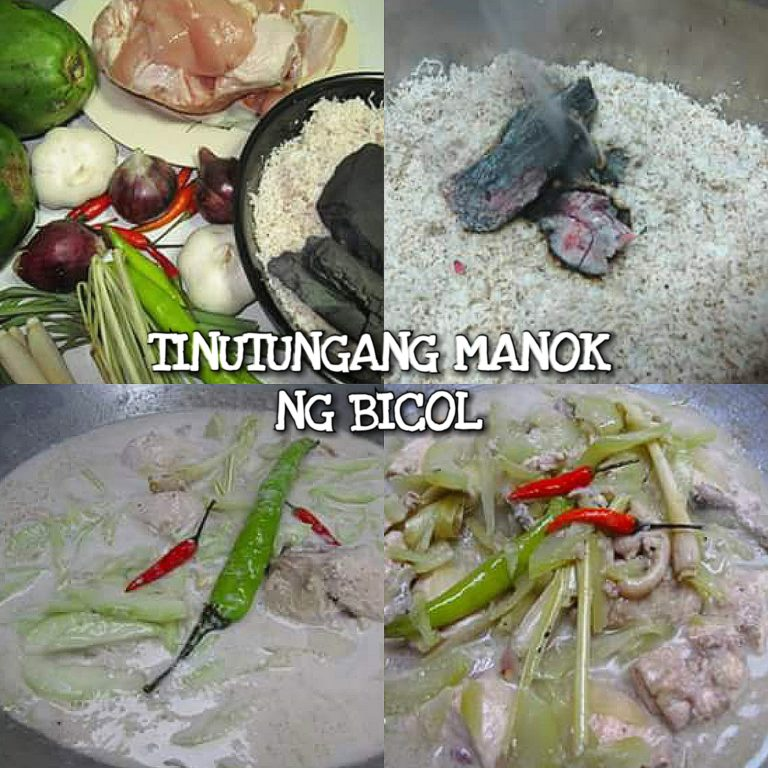 Tinutungang Manok Recipe ng Bicol
