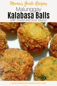 Malunggay Kalabasa Balls