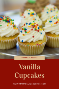 Easy Vanilla Cupcakes Recipe, vanilla cupcakes for kids, simple cupcake recipe for beginners