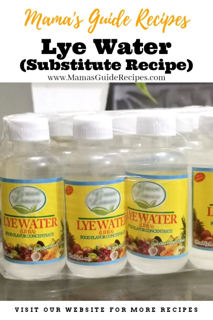 What is Lye Water and Substitute Recipe