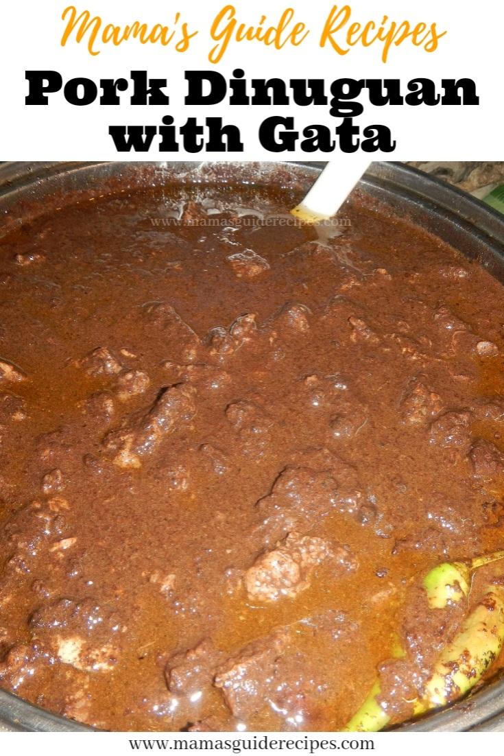Pork Dinuguan with Gata