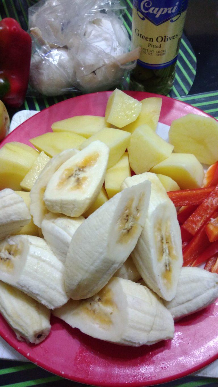 Preparation for Estofado ingredients