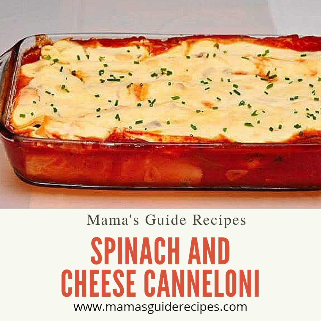 Spinach & Cheese Cannelloni