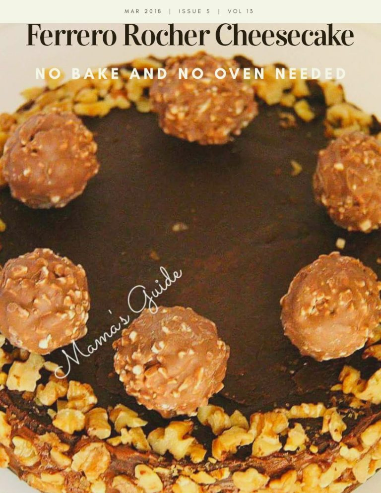 No Bake Ferrero Rocher Cheesecake