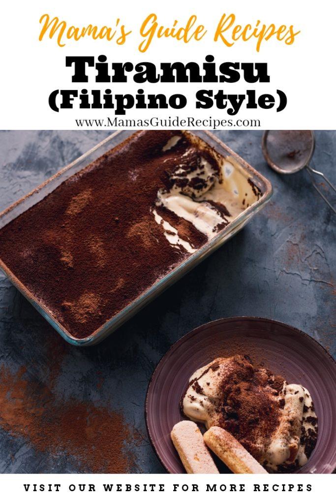 Tiramisu (Filipino Style Recipe)