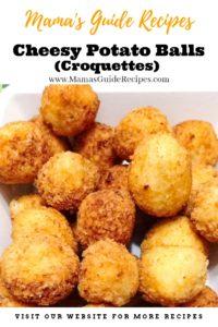 Cheesy Potato Balls (Croquettes)