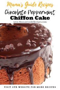 Chocolate Peppermint Chiffon Cake