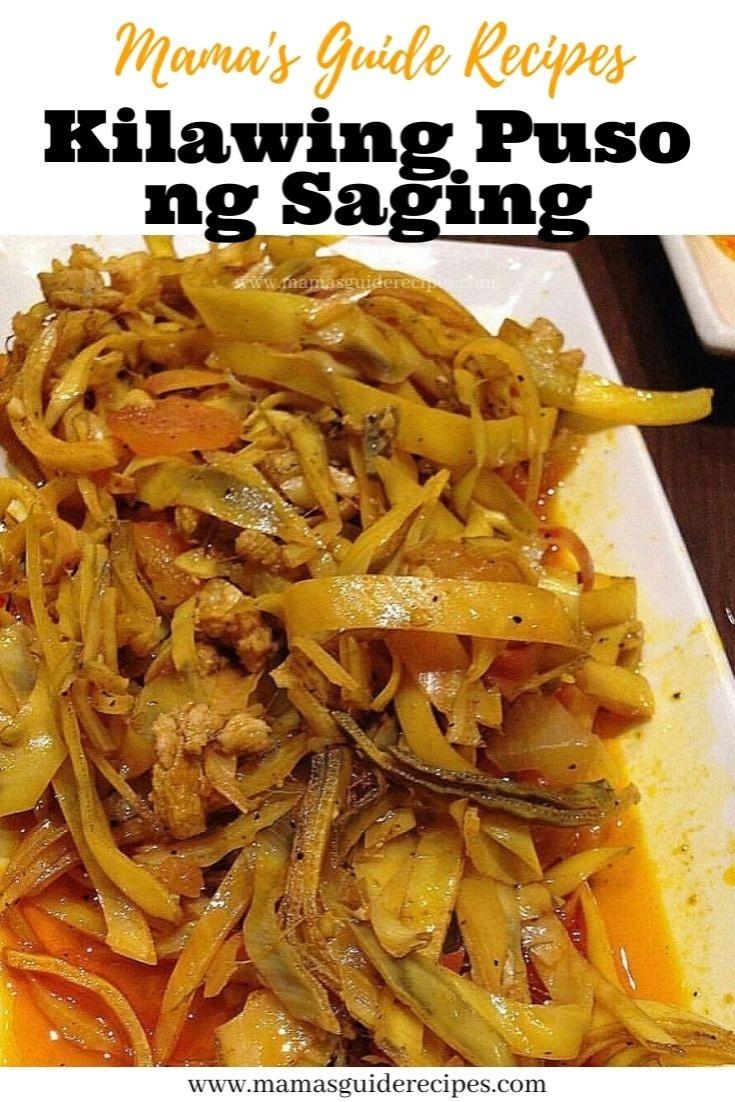 Kilawing Puso ng Saging