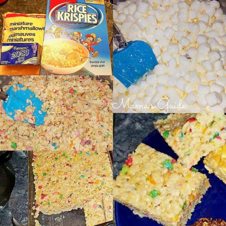 How to Make Rice Krispies Treat Bars (No bake)