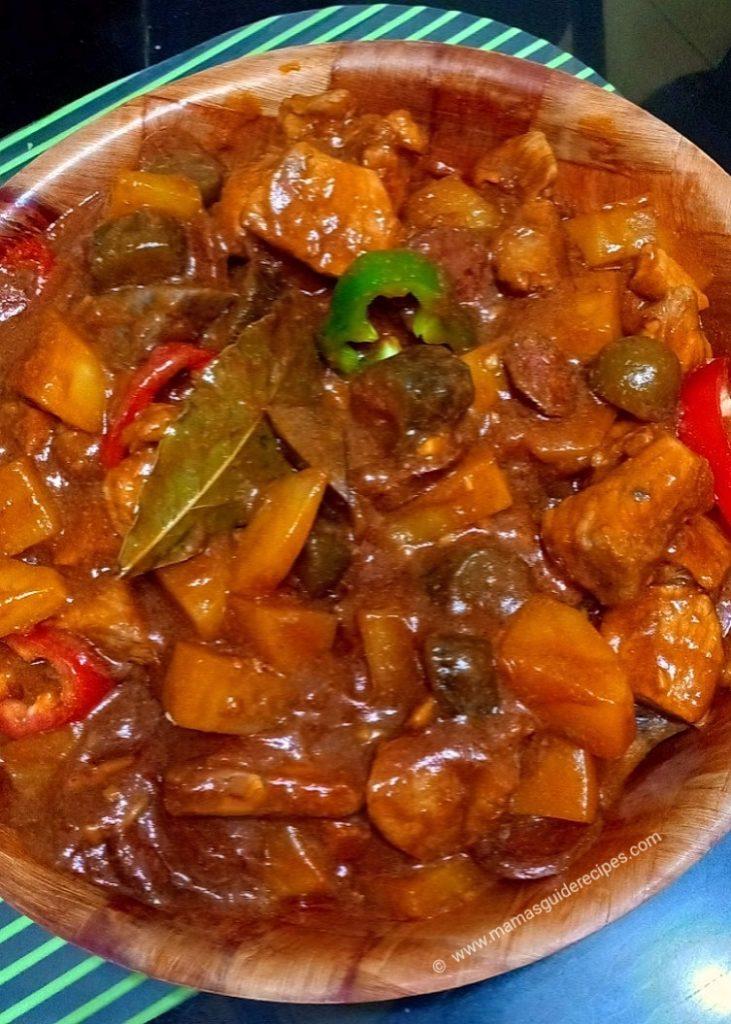 Pork de Pickles (Menudo ng Marikina)