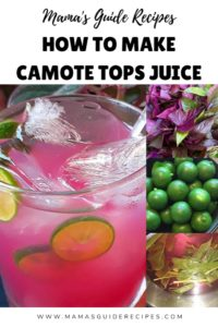 How to make Camote Tops Juice