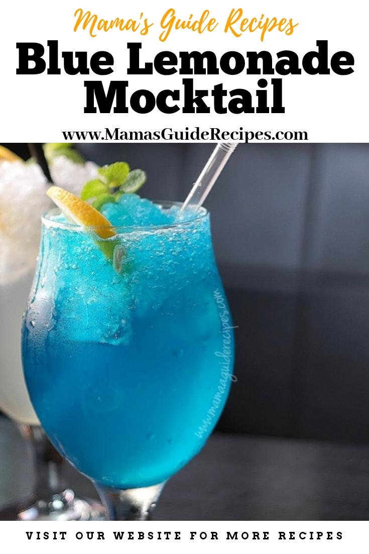 Blue Lemonade Mocktail