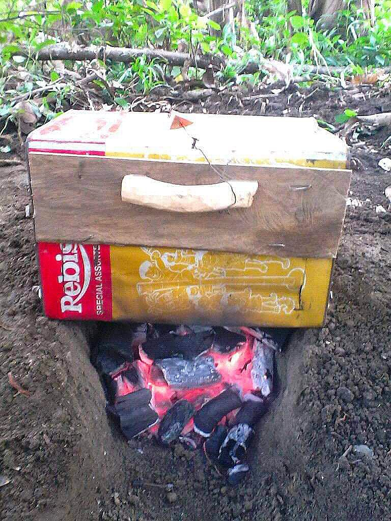 Soil Oven using Charcoil