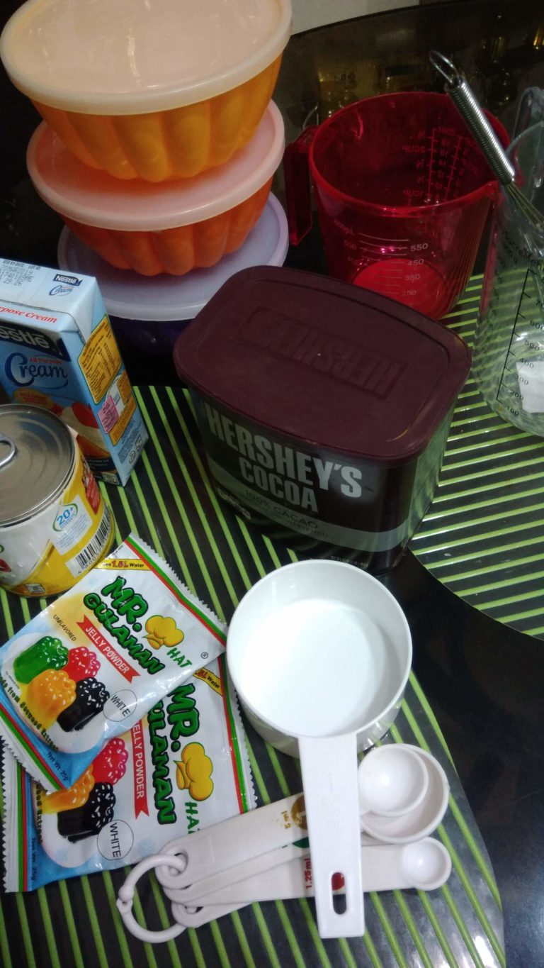 Choco Jelly Cathedral Ingredients