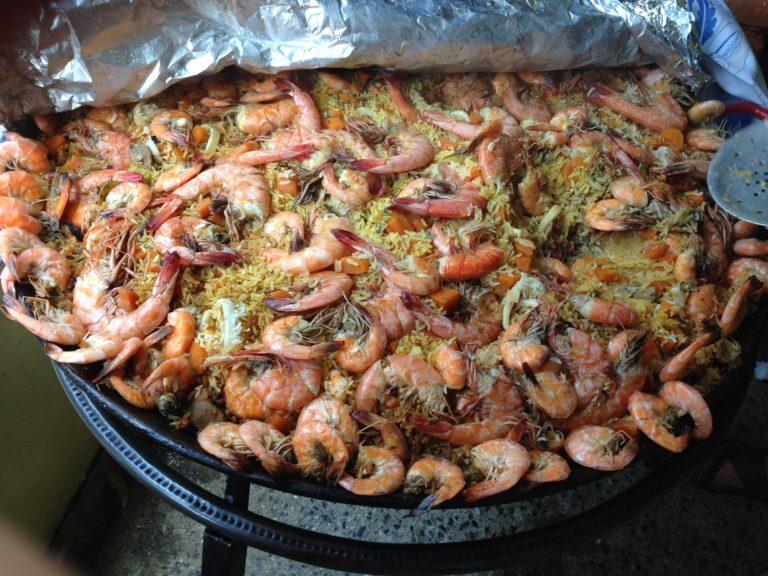 Shrimp Paella Valenciana