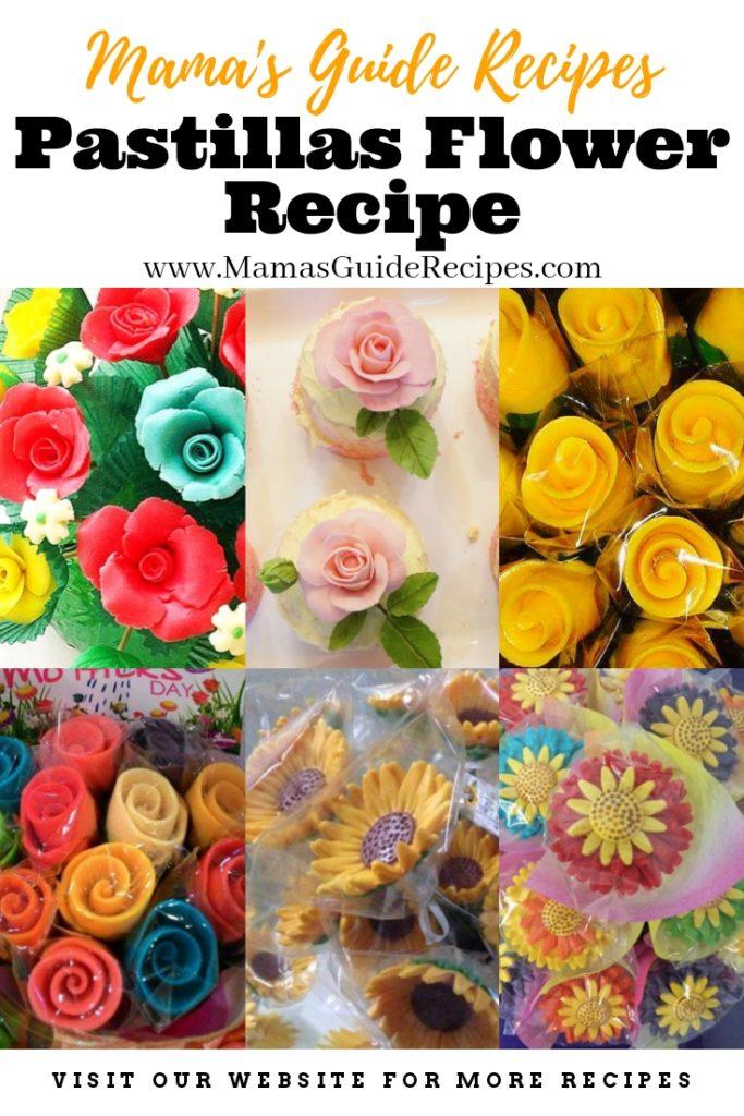 Pastillas Flower Recipe