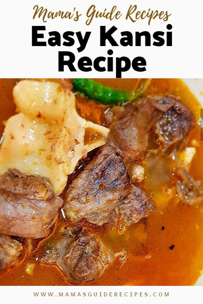 Easy Kansi Recipe