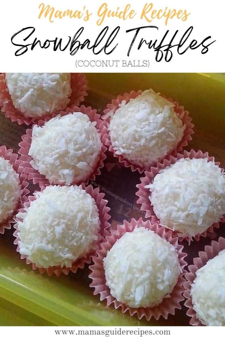 Snowball Truffles (Coconut Balls)