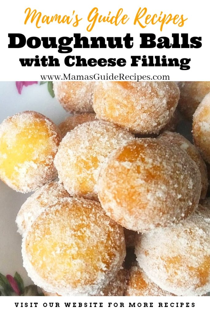 Doughnut Balls with Cheese Filling