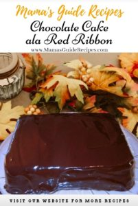 Chocolate Cake ala Red Ribbon Frosting