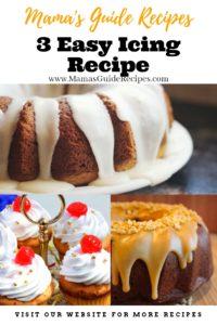 3 Easy Icing Recipe