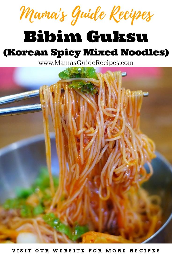 Bibim Guksu (Korean Spicy Mixed Noodles)