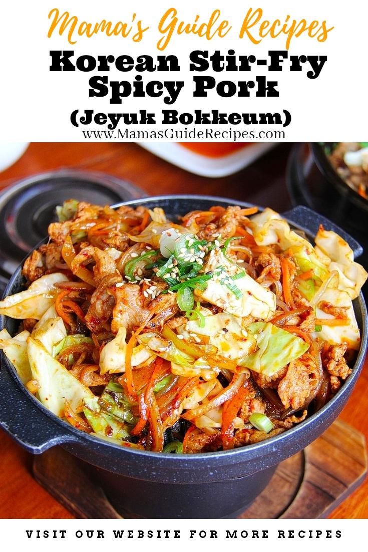 Korean Stir-Fry Spicy Pork (Jeyuk Bokkeum)