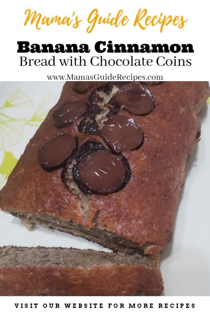 Banana Cinnamon Bread with Chocolate coins