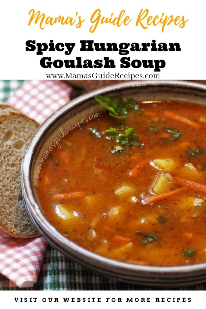 Spicy Hungarian Goulash Soup