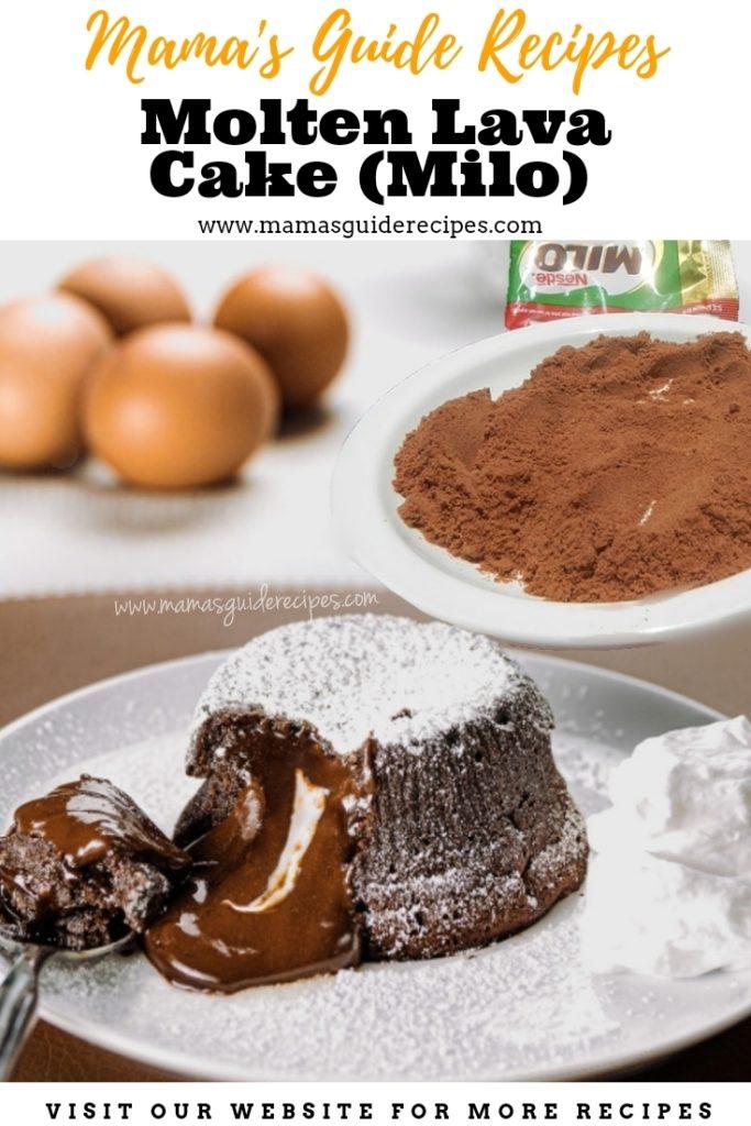 Molten Lava Cake (Milo)