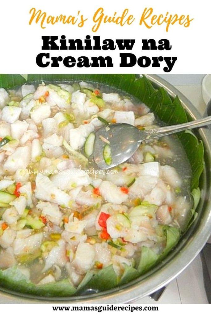 Kinilaw na Cream Dory