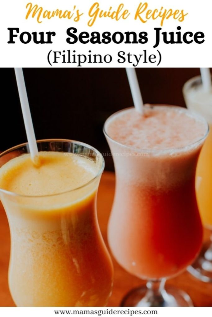 Four Seasons Juice (Filipino Style)