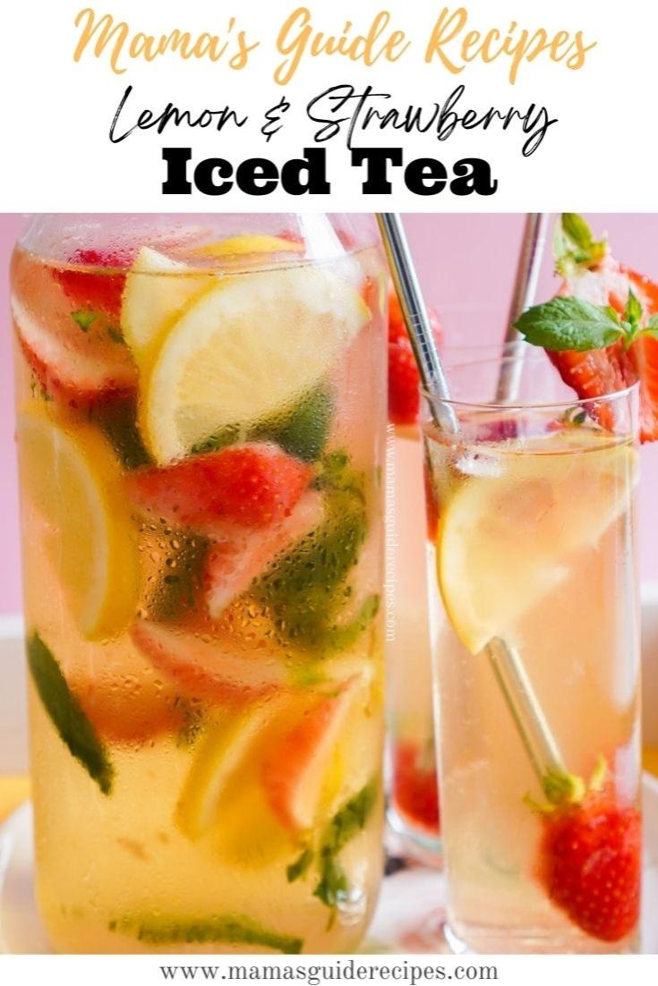 Lemon and Strawberry Iced Tea